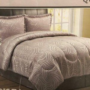 4 Piece Trista Queen Comforter Set By S.L. Collect